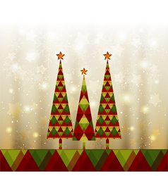 Sparkling Christmas Tree vector image vector image