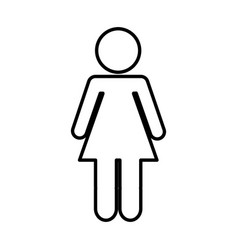woman figure human silhouettte vector image