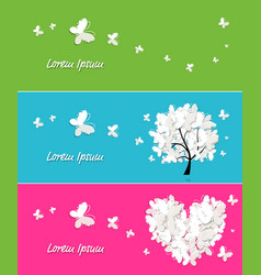 banners collection with butterflies vector image vector image