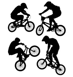 Cycling bmx vector