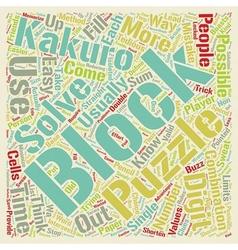 Kakuro Blocks text background wordcloud concept vector image