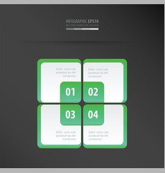 rectangle presentation template neon green vector image