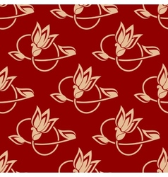 Repeat floral pattern in a seamless design vector image vector image
