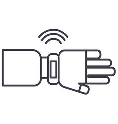 smart watch sign line icon sign vector image