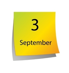 The third of September vector image