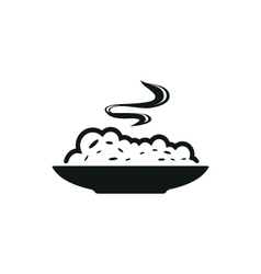 cereal bowl simple black icon on white background vector image