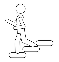 figure person down the stairs icon vector image