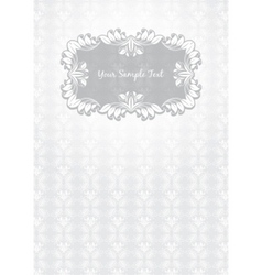 floral pattern frame template vector image vector image