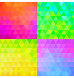 Set of Colorful Geometric Patterns vector image vector image