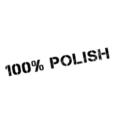100 percent polish rubber stamp vector
