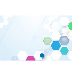 abstract color hexagons hi-tech technology concept vector image