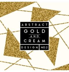 Abstract Gold Glitter Design vector