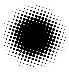 Abstract halftone circle vector