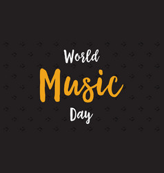 background of world music day flat vector image