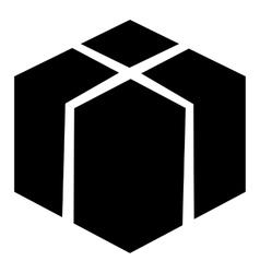 Big box icon simple style vector image vector image