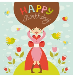 birthday lady vector image