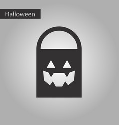 black and white style icon halloween bag vector image