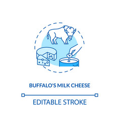 Buffalo milk cheese turquoise concept icon vector