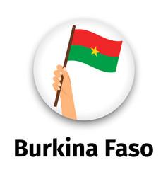 burkina faso flag in hand round icon vector image