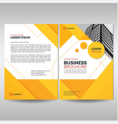 business brochure cover template with yellow vector image