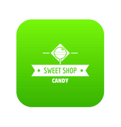 candy shop icon green vector image