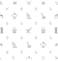 Chair icons pattern seamless white background vector