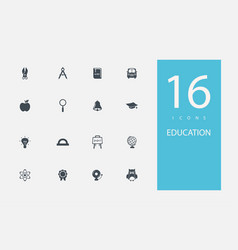 collection icons in style flat gray color on vector image