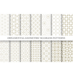 Collection seamless ornamental patterns vector