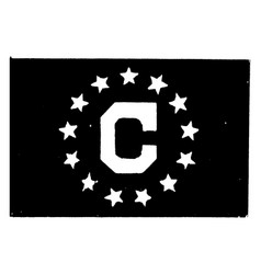 consular flag 1923 vintage vector image