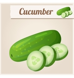 Cucumber Detailed Icon vector image