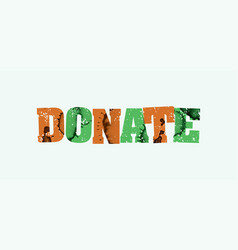 Donate concept stamped word art vector