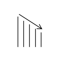 down chart icon vector image