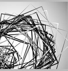 Edgy angular monochrome geometric vector