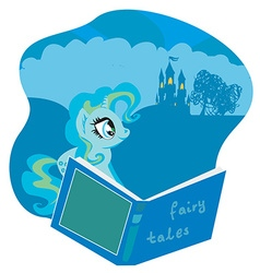 fairy castle appearing from the book vector image