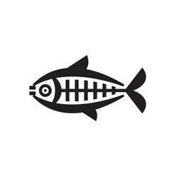 fish - logo template concept vector image