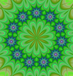 Green abstract floral kaleidoscope background vector