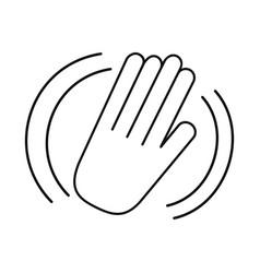 hand waving of hello or goodbye gesture welcome vector image