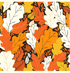 hello fall pattern vector image vector image