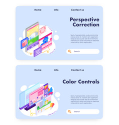 house architect design and colors control vector image