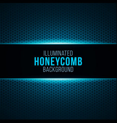 illuminated gradient background with honeycomb vector image