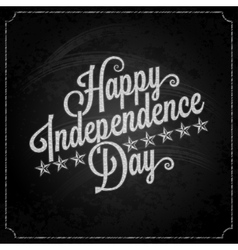 independence day vintage lettering chalk vector image