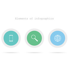 infographics elements on theme technology vector image