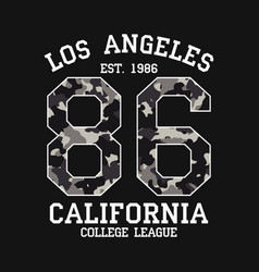 los angeles graphic design for t-shirt with vector image