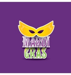 Mardi gras background with mask and text vector