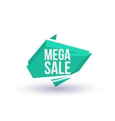 Mega sale isolated trendy geometric label vector