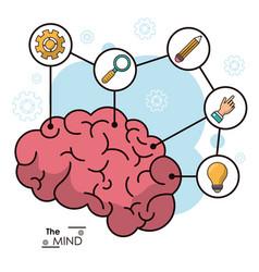 mind human brain creative innovation idea vector image