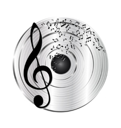 Music platinum record vector image