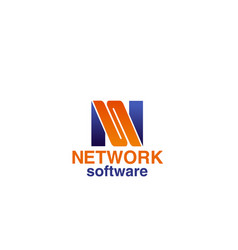 network software icon vector image
