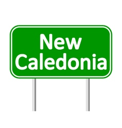 New caledonia road sign vector
