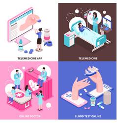 online medicine 2x2 concept vector image